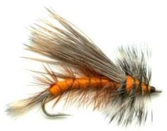Orange Stimulator dry fly