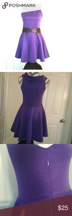 XL Purple dress with scoop neck Size XL Purple dress with scoop neck, zipper on right side. $20 Condition: Great   No trades please. Happy shopping, don't forget to bundle to save 10%, Ohhh and feel free to make me a reasonable offer with that fabulous little offer button! ;) xoxoxo  P.S. Accessories are not included, interested in the entire outfit? just ask Dresses