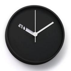 Extra Normal wall clock, design by Ross McBride Cool Clocks, Unique Wall Clocks, Minimalist Clocks, Minimalist Design, Modern Minimalist, Decoration Design, Deco Design, Design Design, Wall Clock Design