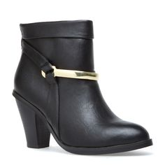 Gold harness boot- grungey yet elegant Ankle Boots, Bootie Boots, Shoe Boots, Pretty Shoes, Cute Shoes, Me Too Shoes, Shoe Closet, Shoe Dazzle, Footwear