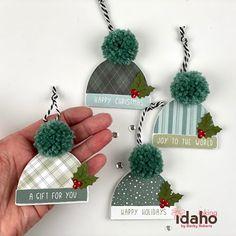 25 Days Of Christmas, Homemade Christmas Cards, Christmas Makes, Christmas Gift Wrapping, Christmas Ornaments, Handmade Gift Tags, Christmas Tags Handmade, Honey Bee Stamps, Theme Noel