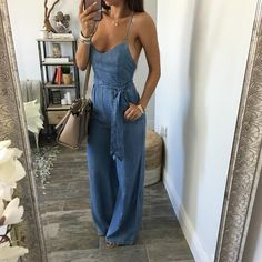 What to wear with jeans jumpsuit 50 best outfits Look Fashion, Fashion Outfits, Womens Fashion, Fashion Trends, Latest Fashion, Fashion Ideas, Cool Outfits, Summer Outfits, Casual Outfits