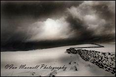 Dusk near a snowy Denholme