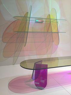 Shimmer design Patricia Urquiola - Glas Italia Salone del Mobile 2015 - Milan www.madeindesign.com http://www.madeindesign.com/prod-table-basse-shimmer-o-52-x-h-45-cm-glas-italia-refshi01-glossy.html