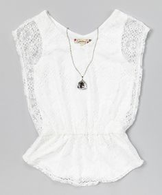 Look what I found on #zulily! Speechless White Lace Top  Necklace by Speechless #zulilyfinds