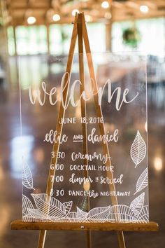 Wedding Designs clear wedding welcome sign - Mix the glitz and glamour of the Great Gatsby with a little southern garden party charm and this Luxury Barn Wedding in White Grey and Gold is the fairy tale you'll wind up with! Trendy Wedding, Perfect Wedding, Diy Wedding, Wedding Day, Wedding White, Wedding Photos, Wedding Tips, Wedding Details, Wedding Reception Timeline