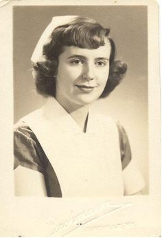 What a comforting face this 1950s era nurse had - very motherly and kind. #nurse #vintage #hospital #1950s #fifties #portrait