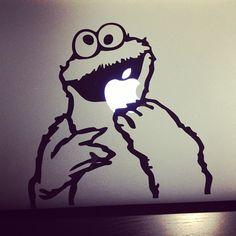 my laptop sticker #cookiemonster