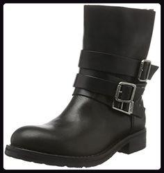 Hilfiger Denim Damen B1385IKER 5A Biker Boots, Schwarz (Black 990), 41 EU - Stiefel für frauen (*Partner-Link)