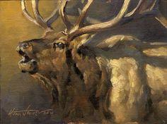 """""""Manny"""" by Dustin Van Wechel Wildlife Paintings, Wildlife Art, Animal Paintings, Elk Pictures, Biology Art, Hunting Art, Woodland Art, Amazing Paintings, Country Art"""