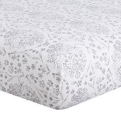 Cloud Gray Bunnies Crib Sheet - liz-and-roo-fine-baby-bedding.myshopify.com - 1