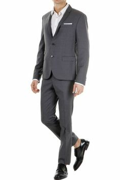 Neil Barrett Virgin Wool Slim Fit Suit (Article Code: BAB49 6107 548)