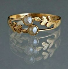 Gold with pearl