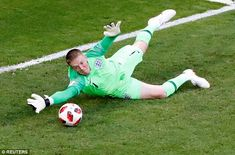 The Everton goalkeeper's stunning performance helped the Three Lions see off Sweden in Samara to reach the World Cup semi-finals England National Football Team, National Football Teams, England Football, England Fans, England Players, Gareth Southgate, The Swede, Man Of The Match, Everton Fc