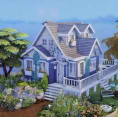 Sims 4 House Plans, Sims 4 House Building, Sims 3 Houses Ideas, Sims 4 Challenges, The Sims 4 Lots, The Sims 4 Packs, Sims 4 House Design, Casas The Sims 4, Sims 4 Build