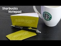 DIY Starbucks Notebook   How to Make Paper Notepads   DIY Gift Ideas