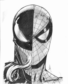 """""""My spider sense is tingling."""" - Spiderman / Venom from Marvel Comics. • Graphite pencils on 8 1/4"""" x 11"""" sketch pad. ► Get my app for exclusive content! """"Aaron Manriquez Illustration"""" Now on Play Store & App Store • facebook.com/aaronm.illustration • instagram.com/aaronmanriquez.illustration • twitter.com/am_illustra ▲ Online shop at society6.com/aaronmanriquez"""