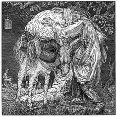 Ilustraciones con cráneos ocultos