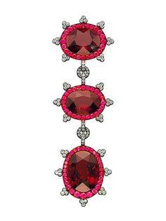 A Garnet, Ruby and Diamond Brooch, by JAR-Christie's