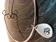 "Sterling Silver Bracelet with ""Om"" Charm"