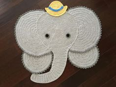 Items similar to Made to order Crochet Elephant rug, Elephant Rug,crochet rug, handmade rug, custom order on Etsy Crochet Panda, Elephant Rug Crochet, Chat Crochet, Elephant Pattern, Crochet Animals, Bonnet Crochet, Crochet Beanie, Crochet Yarn, Boy Crochet