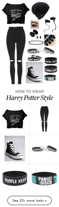 """""""Untitled #822"""" by delioria on Polyvore featuring Topshop, Converse, Coal and Monster"""