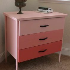 Cool DIY Ideas Night Stand With Pink Color Design