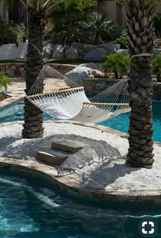 Stone pools concepts incorporate classic products with modern layouts to bring your area as much as date and also include aesthetic charm Luxury Swimming Pools, Luxury Pools, Dream Pools, Swimming Pools Backyard, Swimming Pool Designs, Pool Landscaping, Backyard Pool Designs, Backyard Patio, Backyard Beach