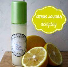 Citrus jojoba deospray, voor een fris gevoel en zachte oksels