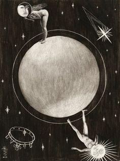 luna-vespertine: Santiago Caruso - Lovers, 2008