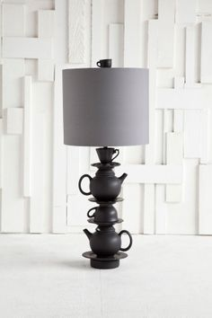 Teapot stack lamps // eclectic. industrial.