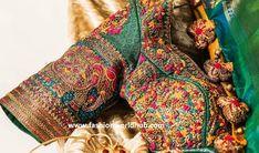 Latest Maggam work blouse designs for Pattu sarees Designer Blouse Patterns, Blouse Designs, Latest Maggam Work Blouses, Silk Sarees, Silk
