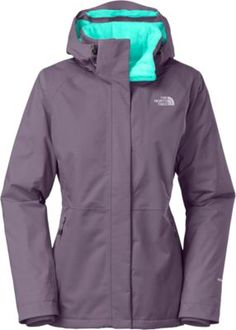 "Conquer the cold with The North Face's Women's Inlux Insulated Jacket.  Center back length:  28.5"".  Women's sizes:  S-2XL.  Colors:  Greystone Blue, TNF Black."