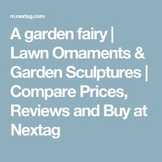 A garden fairy | Lawn Ornaments & Garden Sculptures | Compare Prices, Reviews and Buy at Nextag