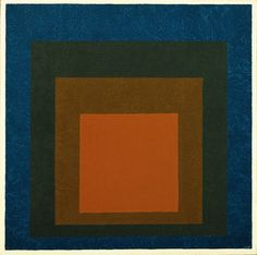Josef Albers (1888-1976, German-born American) - Study for Homage to the Square: Night Shades