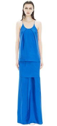 Satya Long Silk Klein Blue