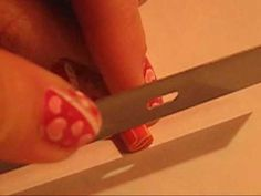 How to: Cutting Fimo Nail Art Canes