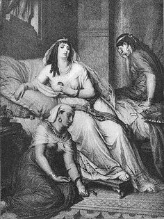 Antony and Cleopatra: Asp scene, act 5 | Artist: Schmidt, engraver: Speiss