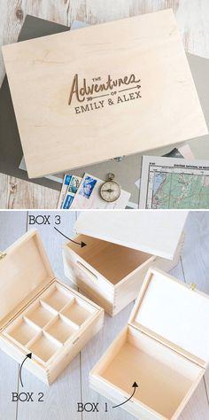 Baby Keepsakes Expressive Couples Fight Box Timber Box With Gold Catch In Many Styles