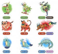 Pikos Region Starters By Devildman On Deviantart Pokemon Z Fake Memes Pokemon Rayquaza, Pokemon Fake, Pokemon Alola, Pokemon Comics, Pokemon Fan Art, Pokemon Fusion Art, Cute Pokemon, Pokemon Stuff, Digimon
