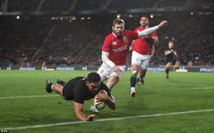 Taylor's try provided the perfect start for the hosts, who enjoy a superb record on this g. British And Irish Lions, Rugby, New Zealand, Tours, Football