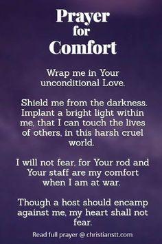 Effective Prayer For Comfort in tough times Prayer Of Thanks, Prayer For Guidance, Prayer For Peace, Power Of Prayer, Daily Prayer, Guidance Quotes, Spiritual Prayers, Prayers For Healing, Bible Prayers