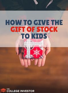 Giving the gift of stock to kids is easier than you think! Here's what you should know!