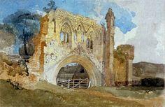 John Sell Cotman - Ruine de l'abbaye de Kirkhall