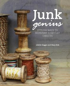 Junk Genius: Stylish Ways to Repurpose Everyday Objects, With over 80 Projects and Ideas by Juliette Goggin and Stacy Sirk. Add something different to your household with a range of light fittings made from colanders, a birdcage and even jelly moulds! Diy Projects To Try, Craft Projects, Craft Ideas, Project Ideas, Activity Ideas, Decorating Ideas, Diy And Crafts, Arts And Crafts, Wooden Spools