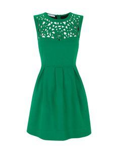 Green dress with collar detail. Beautiful!