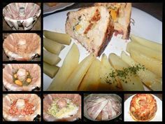Recept na Masová bábovka Camembert Cheese, Sushi, Chicken Recipes, Food And Drink, Dairy, Pork, Low Carb, Menu, Cooking Recipes