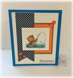 YNS Challenge project by Deborah using Fishing Bear & Sparkly Coral Gumdrops