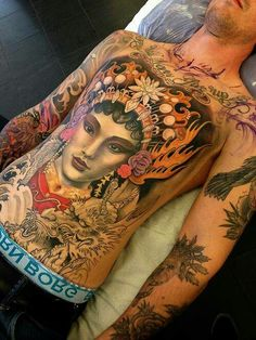 Hot girls with tattoos. How to Girl Body Tattoo. Full Body Tattoo, Tattoo On, Tatoo Art, Chest Tattoo, Color Tattoo, Torso Tattoos, Life Tattoos, Body Art Tattoos, Tatoos