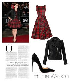 """""""Emma Watson"""" by bremartin on Polyvore featuring Miss Selfridge, Vanity Fair and Christian Louboutin"""